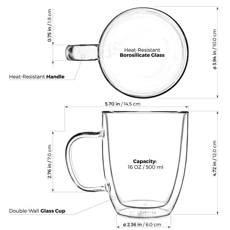 Sirius Double Wall Glass Mugs, Set of 2